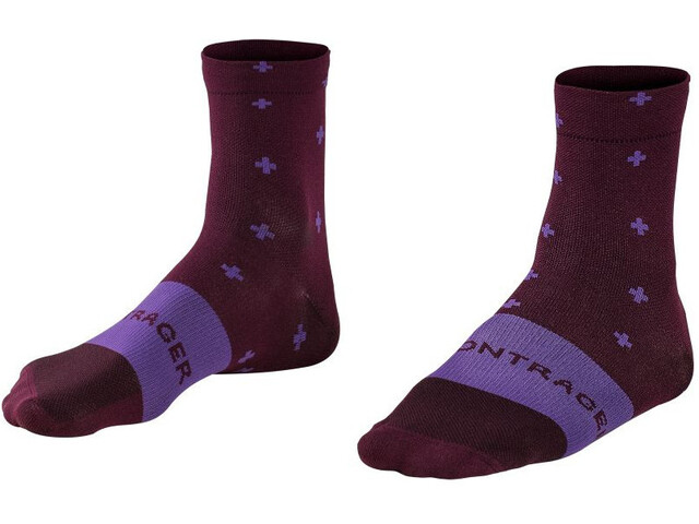 Bontrager Race Quarter Socks Men, mulberry